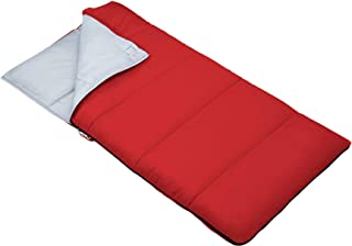Outbound Kids Sleeping Bag   Compact and Lightweight Sleeping Bags for Girls and Boys   3 Season, Warm and Cold Weather   Perfect for Youth, Camping and Backpacking   Red & Blue
