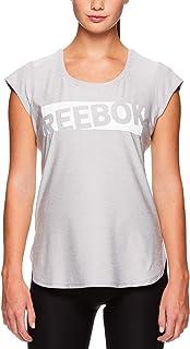 تي شيرت Reebok Legend Running & Gym للسيدات - ملابس تمرين قصيرة الأكمام للسيدات