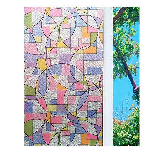 Concus-T Fensterfolie Selbstklebend Sichtschutzfolie Sonnenschutz Glasdekorfolie Statisch Folie Design Bunte Malerei 45x200cm