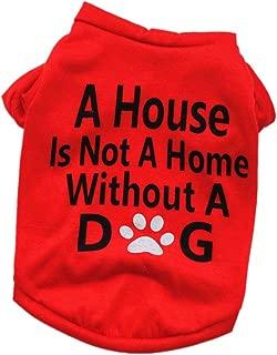 Pet Shirt Daoroka Small Large Dog Cat Costume Puppy Vest Summer Letter Sweatshirt Girl Boy Pet Clothes Fashion Apparel (M, Red 2)
