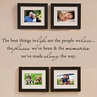 MoharWall Wall Decals Quote Living Room Warm Vinyl Art Wall Stickers Picture Frame Decoration - The Best Things in Life are The People We Love