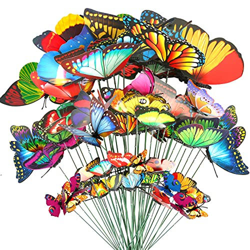 Teenitor 40 Pcs Butterfly Stakes, 5 Different Size...