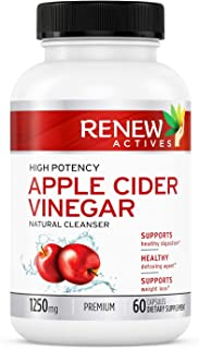 Apple Cider Vinegar Supplement Capsules: All Natural Vegan ACV Pills - Detox and Cleanse Supplements to Promote Healthy Blood Sugar, Metabolism, Digestion and Energy - 60 Veggie Capsules