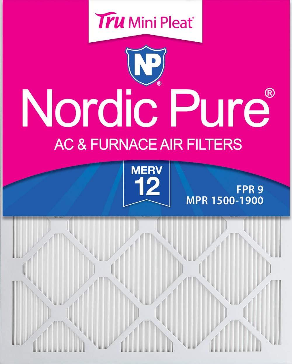 Nordic Pure 12x36x1 Exact MERV 13 Tru Mini Pleat AC Furnace Air Filters 1 Pack