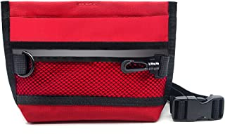 Wellbro Reflective Dog Treat Pouch, Handy Pet Training Waist Bag, Featured with Spring Hinge Closure and Mesh Pocket, Easy to Carry Treats and Toys, for Rapid Reward to Pets