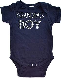Apericots Grandpa's Boy Sweet Short Sleeve Baby Bodysuit