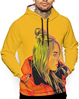 Quxueyuannan Mens 3D Print Hoodie Sweatshirt Billie My Boy Eilish Sports Activities Cotton Sweater