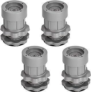 Lot de 4 amortisseurs de vibrations - Pieds en caoutchouc - Tapis anti-vibrations universel - Pour machine à laver, sèche-...