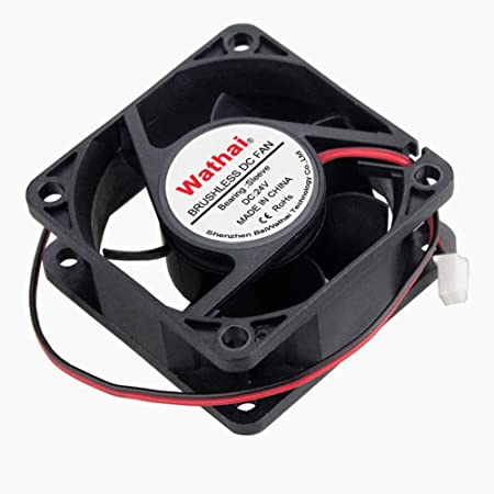 sourcing map Ventilador de enfriamiento de 60 mm x 60 mm x 25 mm Ventilador de CC de 12 V Rodamientos de Bolas Dobles de Larga duraci/ón Ventilador de Caja de PC