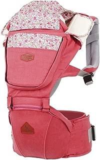 Baby Fleur Denim Hipseat + Baby Carrier (Indian Pink)