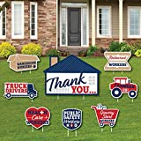 Big Dot of Happiness Thank You Front Line Workers - Yard Sign and Outdoor Lawn Decorations - Yard Signs - Set of 8