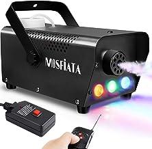 MOSFiATA Fog Machine with Controllable Lights, 500W DJ LED Smoke Machine 3 Colors Lights..