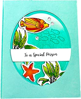 LZBRDY 5.9 by 8.3 Inch Sea World Crab Starfish Shrimp Fish Shell Seaweed Stamps and Dies for Card Making Scrapbooking Cora...