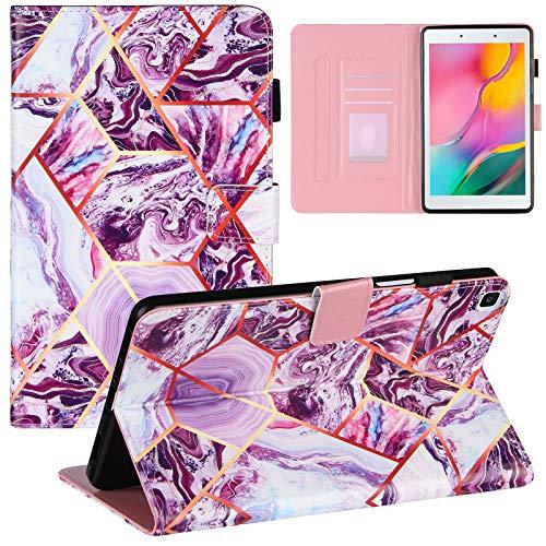 ZOOMALL Funda tipo libro para Galaxy Tab A 8.0 2019 T290 T295 Premium de piel vegana con soporte para lápiz para Samsung Galaxy Tab A 2019 de 8 pulgadas, color morado