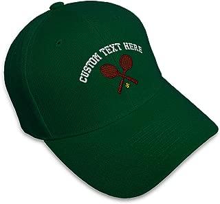 Custom Baseball Cap Tennis Racquets A Embroidery Dad Hats for Men & Women