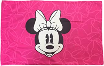 Jay Franco Disney Minnie Mouse Go with The Bow 1 Pack Pillowcase - Double-Sided Kids Super Soft Bedding (Official Disney Product)