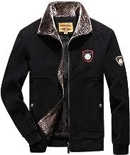 iYYVV Mens Winter Corduroy Fleece Warm Casual Windbreaker Jacket Outdoor Slim Lapel Coat