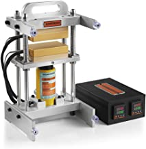 Small Portable Heat Press Machine - dp-hr10t35v - 3x5 Inches Heat Press Plates Kit - 10 Ton Hydraulic Cylinder Attached - No Pump Included