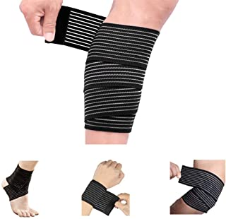Calf Compression Bandage Sleeve Wrap Plus Size for Men and Women, Calf Pain Relief, Lower Leg Compression Support, Shin Splint Guard for Runner, Football, Adjustable