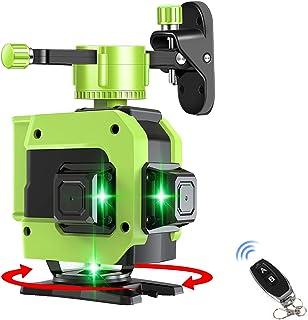 Topkar 12ライン グリーン レーザー墨出し器 グリーン 緑色 レーザー クロスライン フルライン 大矩照射モデル 収納バッグ付き 1年保証 QT-12