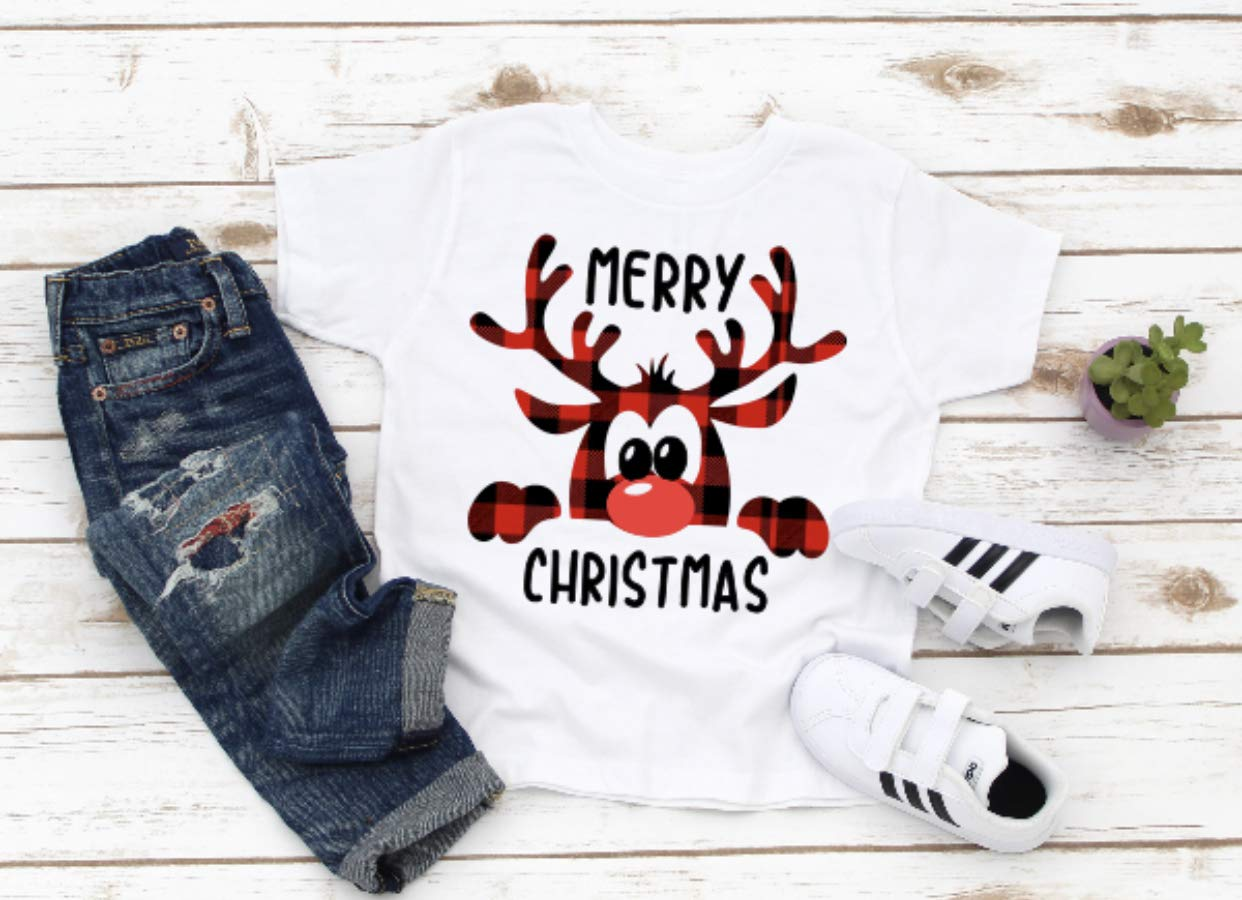 Popular brand Merry Christmas Toddler Shirt Cute Rudolph Max 67% OFF Toddl
