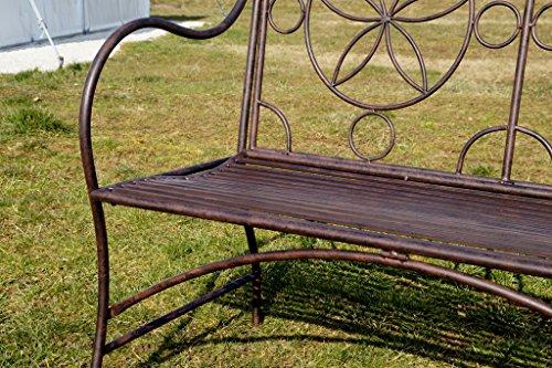 Exklusive Gartenbank Cielo, ergonomische Sitzfläche, Sitzbank in neuem Design und sehr stabiler Metallausführung - 7