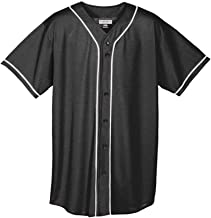 Augusta Sportswear Youth Wicking Mesh Button Front Jersey