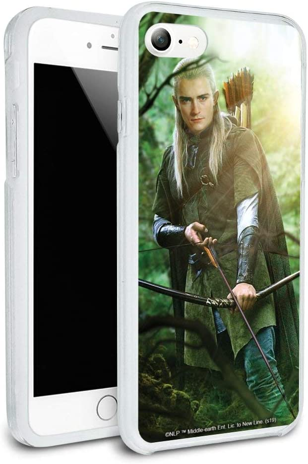 The Lord of The Rings Legolas Character Protective Slim Fit Hybrid Rubber Bumper Case for Apple iPhone 7 and 7 Plus