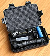 RAISSER CREE XML T6 10000 Lumens Lanterna High Power Adjustable LED Torch Zoomable Flashlight , Charger and 1 x 18650 Battery