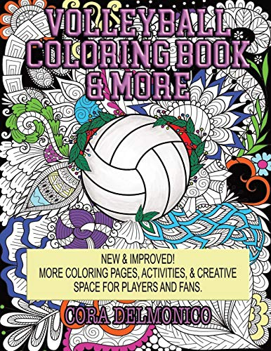 Volleyball Coloring Book & More: Coloring Pages, Activities, & Creative Space for Players & Fans
