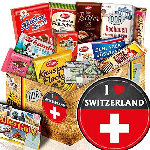 I love Switzerland - Schweizer Geschenkkorb - Schokolade Ostpaket L