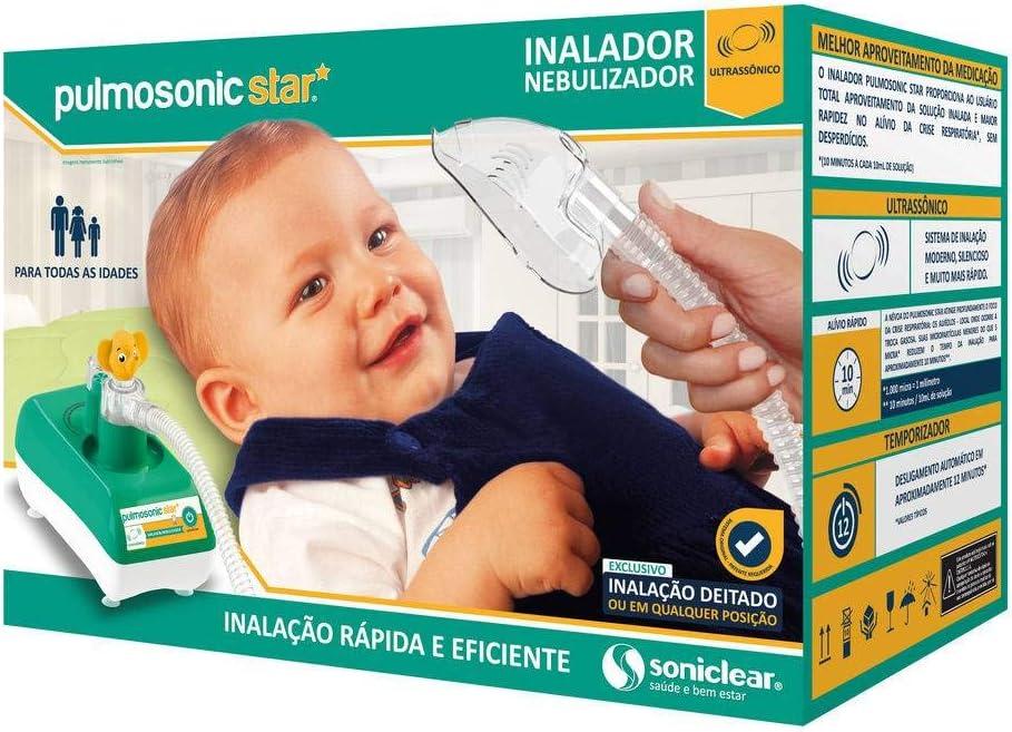 Inalador/Nebulizador Ultrassônico Pulmosonic Star, Soniclear, Verde/Branco