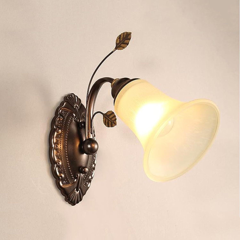 ZWX Wandleuchte Eisen Wohnzimmer Schlafzimmer Wandleuchte Hintergrund Wandleuchte Nachttischlampe Spiegel Scheinwerfer Aisle-Lampen
