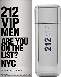 212 Vip by Carolina Herrera Eau De Toilette Spray for Men, 3.4 Ounce
