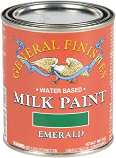 General Finishes PE Water Based Milk Paint, 1 Pint, Emerald