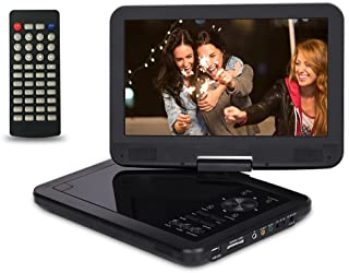 "Saachi PDVD-1089 10.1"" All Multi Region Free Portable DVD Player 270 Degree Screen 4.5 Hr Battery, SD Card Reader, USB & Headphone Jack, Black"