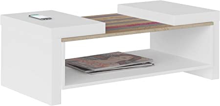 Artely Veneza Coffee Table, White/Antique  - H 36.5 cm x W 100.5 cm x D 59 cm