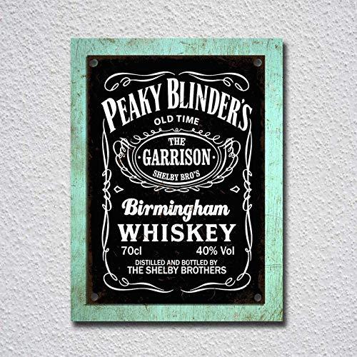 Peaky Blinder's Birmingham Whisky Iron Poster Cartel de puerta de pared de...