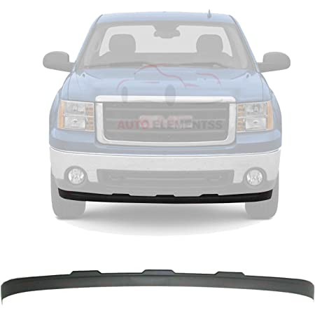 Amazon Com New Front Bumper Lower Valance Deflector Extension Textured Plastic For 2007 2013 Gmc Sierra 1500 Direct Replacement 15917769 Automotive