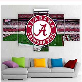 Alabama Crimson Tide con Home Field City Skyline Sala de estar Decoración de la casa Deportes Arte Lienzo Pintura-30x40 30x60 30x80cm Sin marco