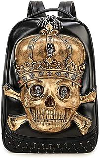 Halloween Rivets Waterproof 3D Ghost Skull With Crown Backpack Cartoon Bags Laptop Computer Knapsack For Teenager