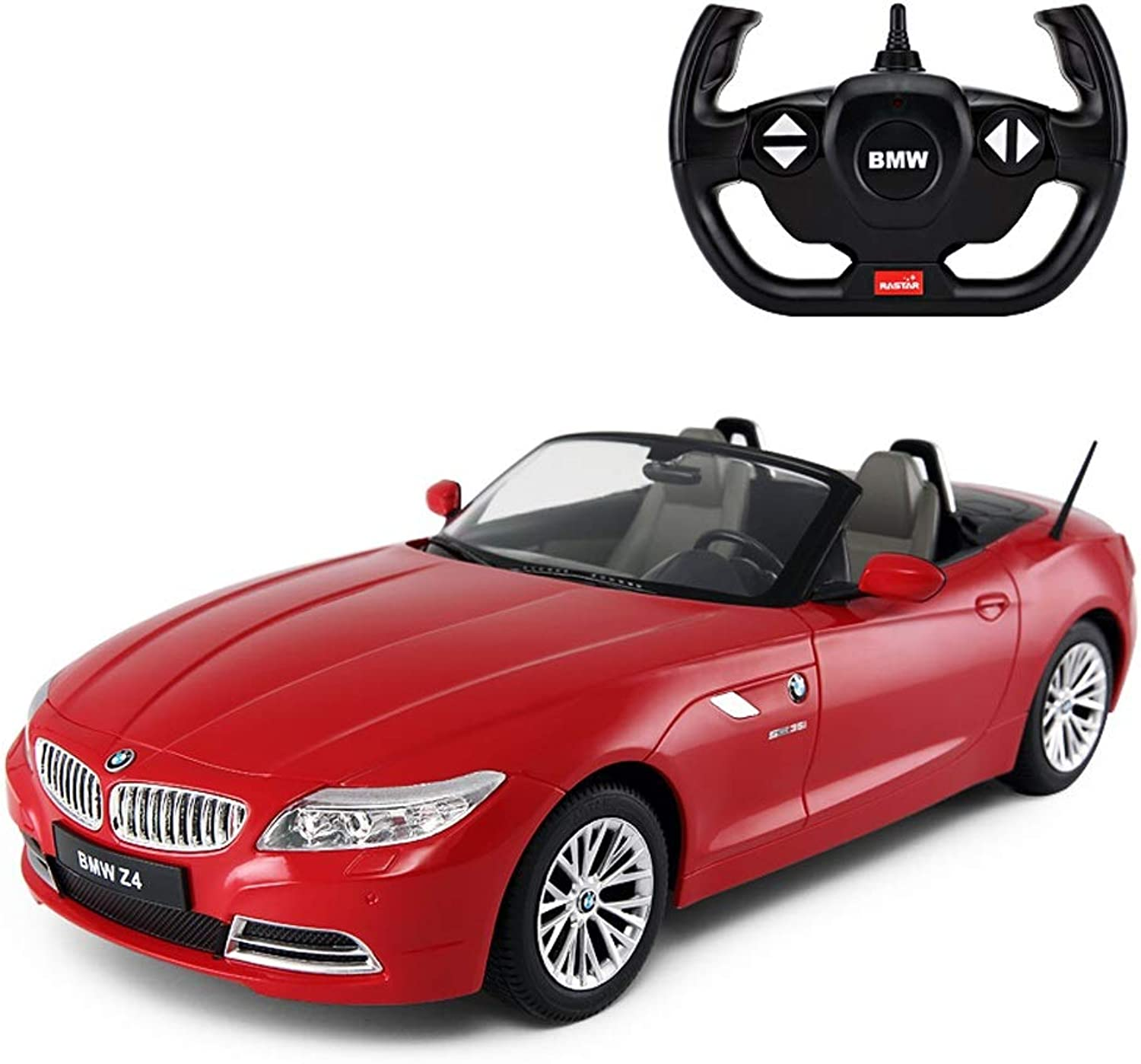 Kikioo 2.4Ghz RC Z4 Official Licensed Wireless Remote Racing Fourwheel Drive Grand Sport Car For Kids With Working Lights Radio Controlled Vitesse Stunt Vehicle 1 12 Model Great Toys Boys Girls Black