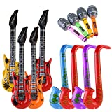 NUOLUX Aufblasbare Prop,Aufblasbare Gitarre musikalische Instrumente Spielzeug, 12 Stück...