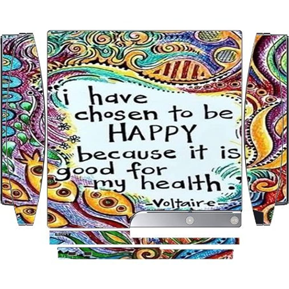Fun I Have Chosen To Be Happy Famous Quote Playstation 3 / PS3 Slim Vinyl Decal Sticker Skin