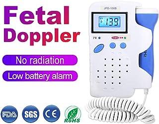 GRASSAIR Detector de Doppler fetal, Monitor de frecuencia cardíaca fetal, Monitor prenatal portátil portátil