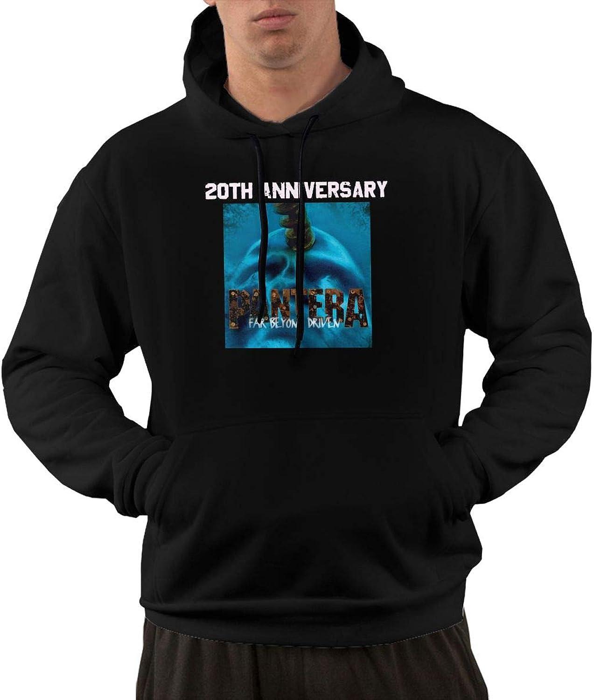 AlbertV Men's Pantera Far Beyond Driven Hoodies Sweatshirt With Pocket Black