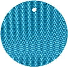 Yardwe Silicone Pot Holders Heat Resistant Non-slip Trivet Mats Hot Pads Multipurpose Trivet For Home Use (Blue)