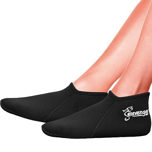 Seavenger Zephyr 3mm Neoprene Socks for Scuba Diving, Snorkeling, Swimming & All Water Sports