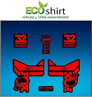 Ecoshirt HN-XTI9-0FAV Pegatinas Horquilla Fox 32 R284 Stickers Aufkleber Decals Autocollants Adesivi Rojo