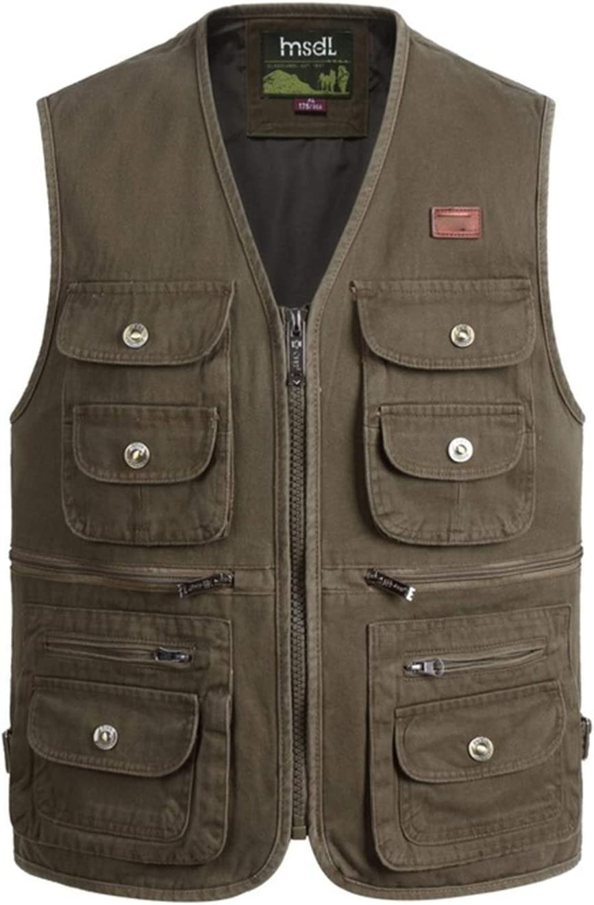 Outdoor Leisure Fishing Vest,Sport Photography Vests, Middle-Aged and Elderly Men's Cotton Clothing,3,6XL